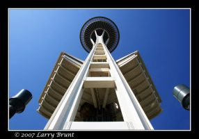 Space Needle - Seattle by inessentialstuff