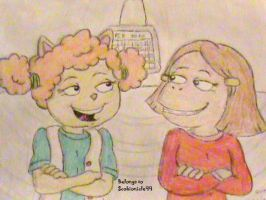 Sue Ellen and Francine Chillax by ScoBionicle99