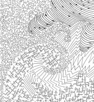 Ink Abstract Drawing by Alley9
