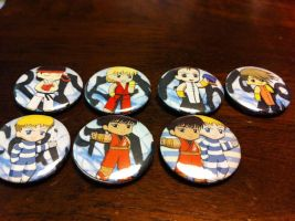 Street Fighter Buttons by nanashisangel