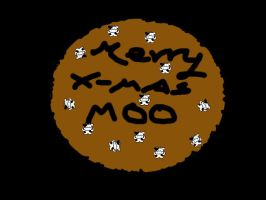 m00iamcow christmas cookie by cav