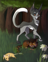 Thistleclaw and Tigerpaw by TobyKitten