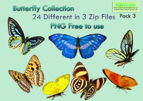 Butterfly Collection Stock Pack 3 by Roys-Art