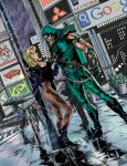 Green Arrow and Black Canary by packy1800