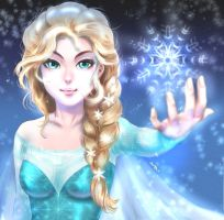 Elsa Celebrating 2000 likes of Fanpage by AraSFwitch