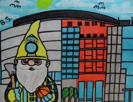 Denver Nugget Gnome painted by sampson1721