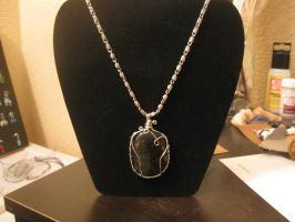 Labradorite Wire Wrapped Necklace by Katlynmanson