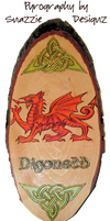 Welsh Dragon Pyrograph Wood Burning by snazzie-designz