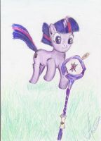 Twilight sparkle with a staff by 1Vladislav