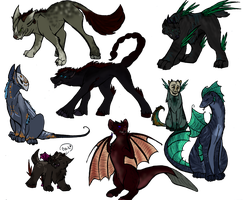 Hellhound adoptables (Closed) by wolf-wishes