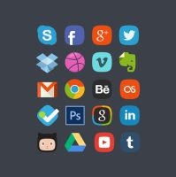 20 Social Media Badges Freebie by bestpsdfreebies