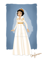 Snow White Wedding Gown by Cor104