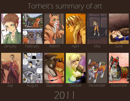 Summary of art 2011 by Torheit-Skadi