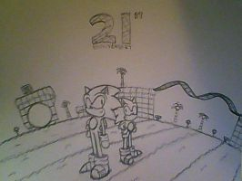 Sonic 21st Anniversary by classicsonicawesome