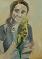 another portrait with birds by KittyNamedAlly