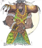 Sean's Tauren Druid 2013 by StarNob