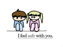 i feel safe with you. by monsterseverywhere