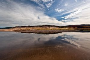 Reflections Inverness Beach by EvaMcDermott