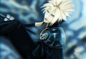 Cloud Strife Final Fantasy 7 by webbwarrior