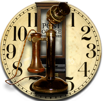 Steampunk Punch Clock Icon MkIII Skype by yereverluvinuncleber