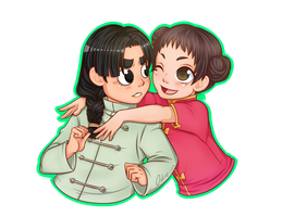 COM: Lee and Tenten by Odire-san