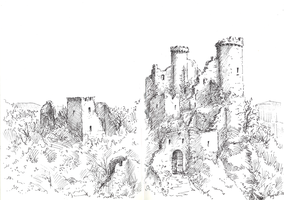 Sketch: Castle Ruins by woutart