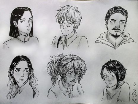 Some OCs by frozenlokifarts