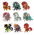 50p Adoptables Batch 3 by DG-Comatose
