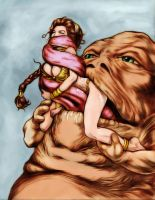 Why Jabba really wanted Leia by Random-Havoc