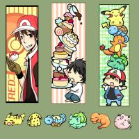 Bookmark set :for Kami-con: by Limebro