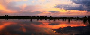 Okavango Sunset by shrimpeth