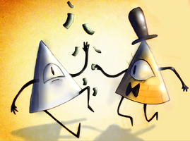 Bill Cipher and Yung Venuz by GGHardstyle