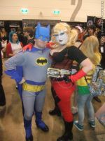Armageddon Expo 2012 - Batman and Harley Quinn by fulldancer-alchemist