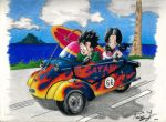 Dragon Ball Z-Gohan and Videl in a Ride by JCRR3001