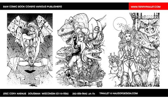 Comic book covers lineart by tpavlet