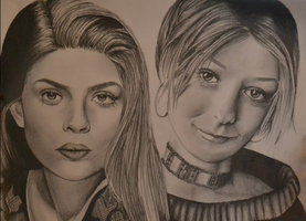 Willow and Tara by piratesgrrl