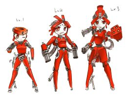 TF2 Sentry Gun-Girl Schematics by Kyzarius