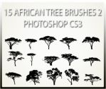15 African Tree Brushes 2 CS3 by charfade