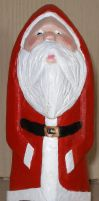 Finished Painted Carved Santa Front View. by Des804