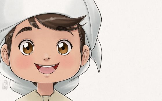 Happy emirati boy by famoalmehairi