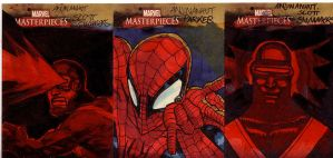 marvel sketch cards 148to150 by anjinanhut