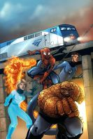 Amtrak Marvel Comic by UdonCrew
