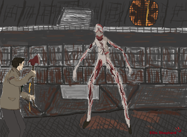 Silent Hill Homecoming: Scarlet and Alex Figth by Ellis-Shepherd