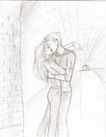 Teddy y Victoire kiss by Hillary-CW
