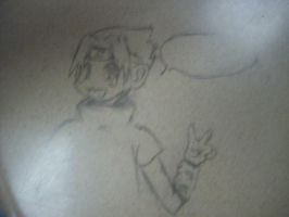 Sasuke on meh desk by BooBooKachoo