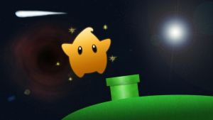 Mario Galaxy wallpaper by KVKH