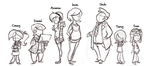 Arianna's Family Rough Lineup by Ric-M