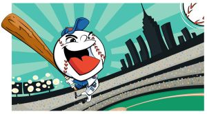 Mr Met Mets Baseball mascot by mattcandraw