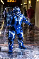 Soldier in Blue Spartan Armor 1 by Insane-Pencil