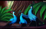 Blue Bird Family by NairaSanches